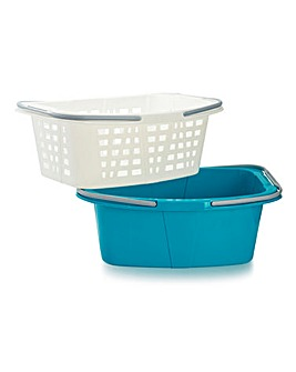 Beldray 2pc Laundry Basket Set