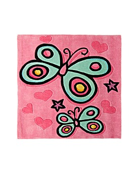 Butterfly Design Kids Rug