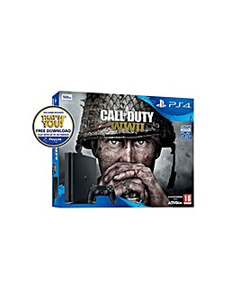 PS4 Slim 500gb Inc Call of Duty WWII