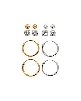 9ct Gold Stud/Hoop Earrings