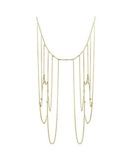 Mood Gold shoulder chain necklace