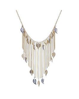 Mood Leaf Tassel Collar Necklace