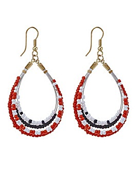 Mood Bead front facing hoop earring