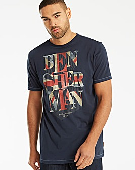 Ben Sherman Union Jack T-Shirt Long