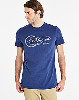 Original Penguin Circle Logo Tee Reg