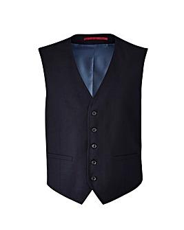 Burton London Navy Twill Waistcoat
