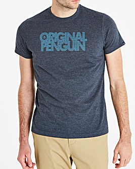 Original Penguin Spliced Logo Tee Long