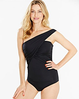 Simply Yours Asymmetric Draped Swimsuit
