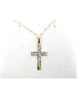 9ct YG Childs Cross Pendant
