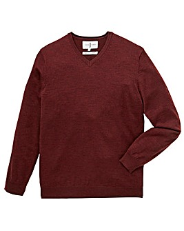 J by Jasper Conran Merino V-Neck Jumper
