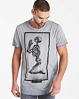 Religion Brand Skeleton T-Shirt Long