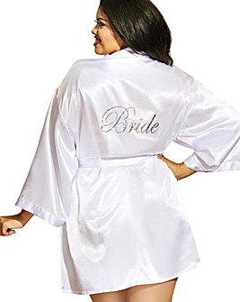Dreamgirl Bridal Satin Chemise Robe Set