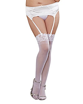 Dreamgirl Sheer Lace Stockings