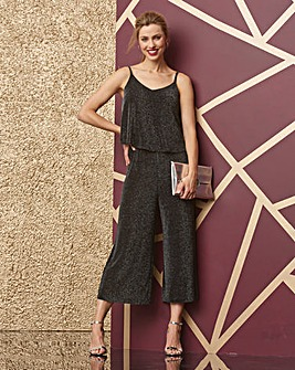 Black/Silver Glitter Layer Jumpsuit