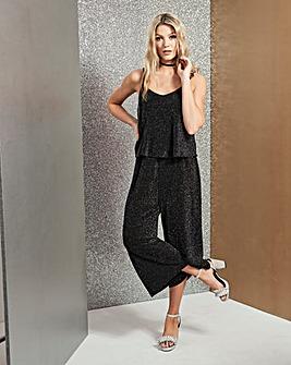 Black/Silver Glitter Layer Jumpsuit