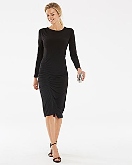 Black Ruched Waist Detail Dress