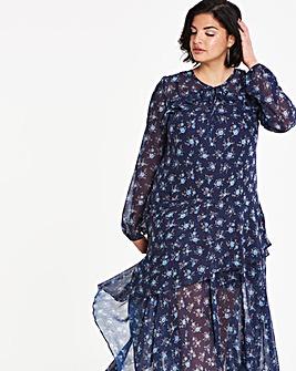 Frill Asymetric Dress