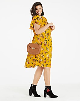 Printed Cape Skater Dress