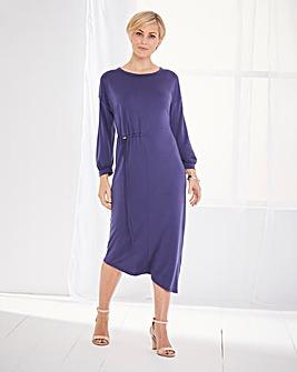 Asymetric Draw Cord Dress