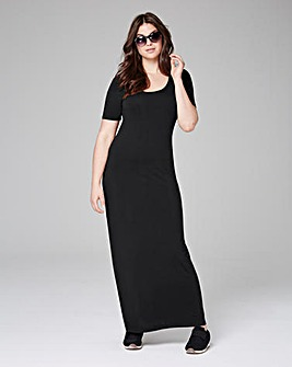 Black T-Shirt Maxi Dress