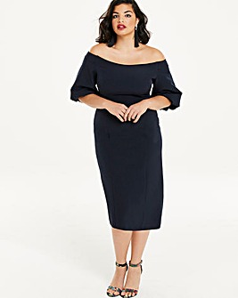 Puff Sleeve Bardot Bodycon