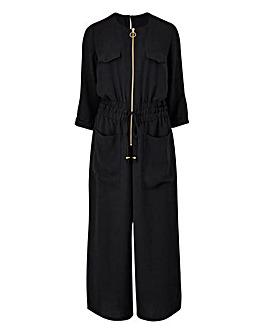 Petite Zip Front Jumpsuit