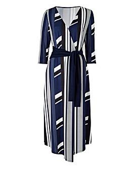 Petite Wrap Asymetric Dress