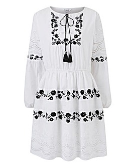 Broderie Anglais Embroidered Dress