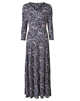 V-Neck Jersey Maxi Dress - L 52