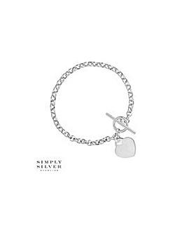 Simply Silver heart charm bracelet