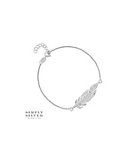 Simply Silver feather bracelet