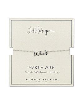Simply Silver wish bracelet