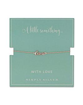 Simply Silver love bracelet