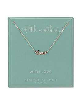 Simply Silver love necklace