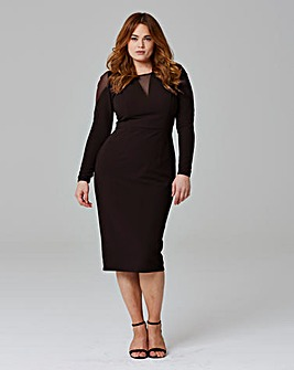 MAGISCULPT MESH INSERT DRESS