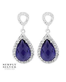 Simply Silver peardrop earring