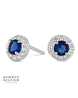 Simply Silver mini clara earring