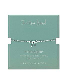 Simply Silver bow bracelet