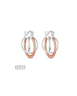 Simply Silver orbit hoop earring