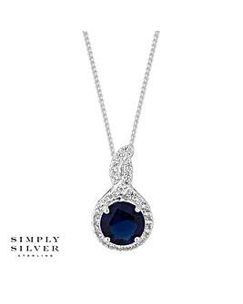 Simply Silver clara twist necklace