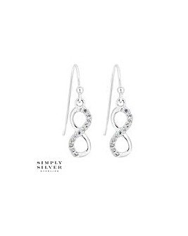 Simply Silver infinity drop earring