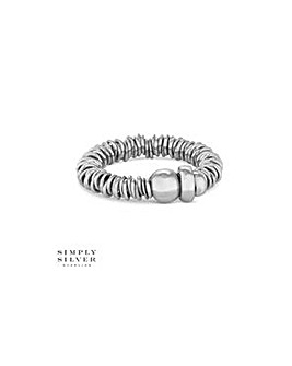 Simply Silver multi ring stretch ring