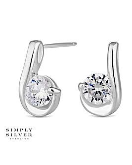 Simply Silver twist earring