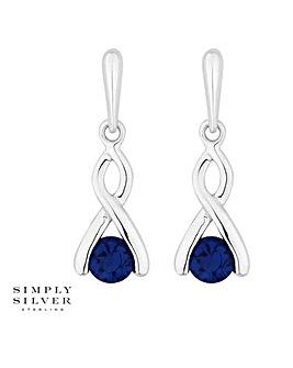 Simply Silver twist drop earring