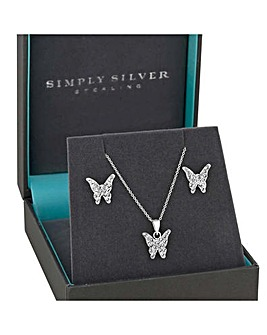 Simply Silver childrens butterfly set