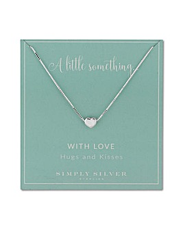 Simply Silver heart charm necklace