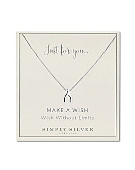 Simply Silver wishbone necklace