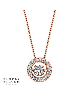 Simply Silver dancing gemstone necklace