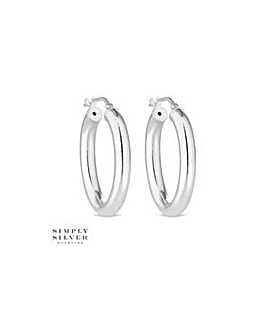 Simply Silver chunky oval hoop earring
