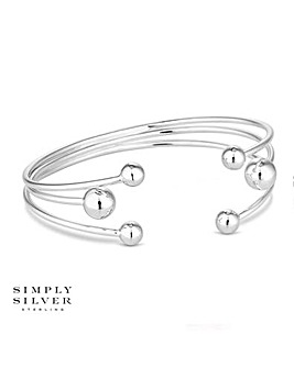 Simply Silver orb bangle